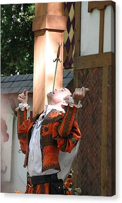Maryland Renaissance Festival - Johnny Fox Sword Swallower - 121231 Canvas Print by DC Photographer