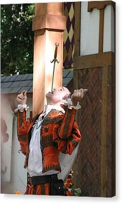 Maryland Renaissance Festival - Johnny Fox Sword Swallower - 121232 Canvas Print by DC Photographer