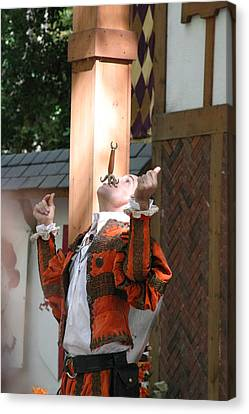 Maryland Renaissance Festival - Johnny Fox Sword Swallower - 121233 Canvas Print by DC Photographer