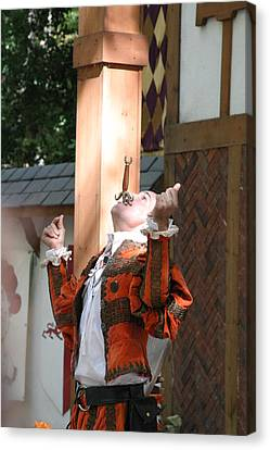 Maryland Renaissance Festival - Johnny Fox Sword Swallower - 121234 Canvas Print by DC Photographer