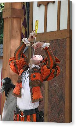 Maryland Renaissance Festival - Johnny Fox Sword Swallower - 121243 Canvas Print by DC Photographer
