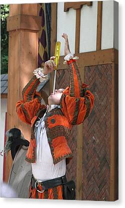 Maryland Renaissance Festival - Johnny Fox Sword Swallower - 121244 Canvas Print by DC Photographer