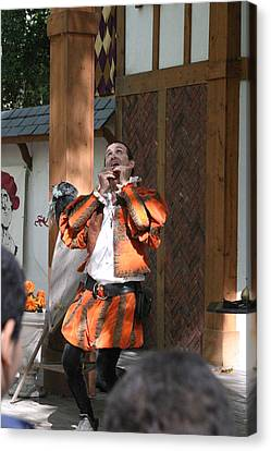 Maryland Renaissance Festival - Johnny Fox Sword Swallower - 121254 Canvas Print by DC Photographer
