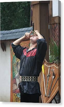 Maryland Renaissance Festival - Johnny Fox Sword Swallower - 121262 Canvas Print