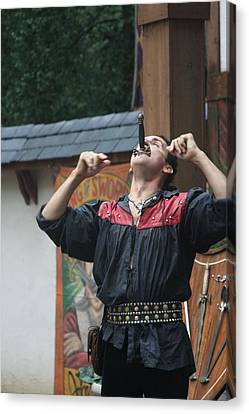 Maryland Renaissance Festival - Johnny Fox Sword Swallower - 121264 Canvas Print