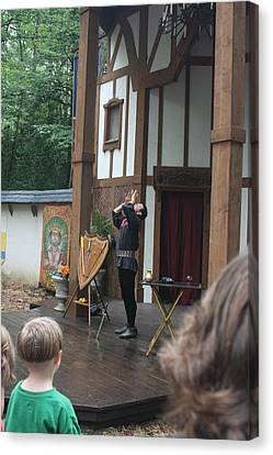 Maryland Renaissance Festival - Johnny Fox Sword Swallower - 121266 Canvas Print by DC Photographer