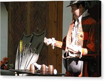 Fox Canvas Print - Maryland Renaissance Festival - Johnny Fox Sword Swallower - 12127 by DC Photographer
