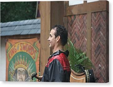 Maryland Renaissance Festival - Johnny Fox Sword Swallower - 121271 Canvas Print by DC Photographer