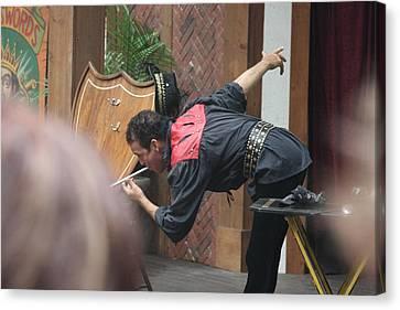 Maryland Renaissance Festival - Johnny Fox Sword Swallower - 121274 Canvas Print by DC Photographer