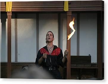Maryland Renaissance Festival - Johnny Fox Sword Swallower - 121286 Canvas Print by DC Photographer