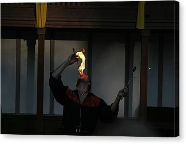 Maryland Renaissance Festival - Johnny Fox Sword Swallower - 121289 Canvas Print by DC Photographer