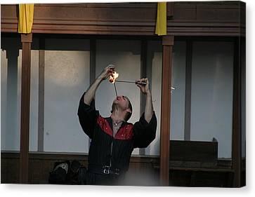 Maryland Renaissance Festival - Johnny Fox Sword Swallower - 121292 Canvas Print by DC Photographer