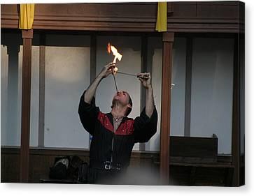 Maryland Renaissance Festival - Johnny Fox Sword Swallower - 121293 Canvas Print