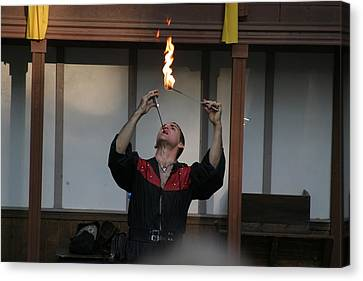 Maryland Renaissance Festival - Johnny Fox Sword Swallower - 121294 Canvas Print by DC Photographer