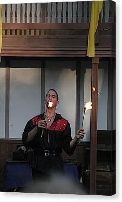 Maryland Renaissance Festival - Johnny Fox Sword Swallower - 121296 Canvas Print by DC Photographer