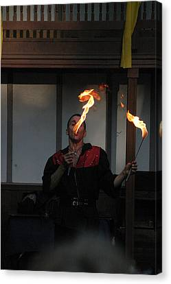 Fox Canvas Print - Maryland Renaissance Festival - Johnny Fox Sword Swallower - 121298 by DC Photographer