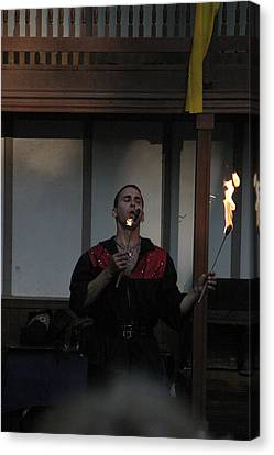 Maryland Renaissance Festival - Johnny Fox Sword Swallower - 121299 Canvas Print by DC Photographer