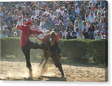 Maryland Renaissance Festival - Jousting And Sword Fighting - 1212109 Canvas Print by DC Photographer