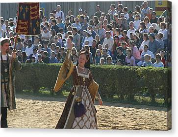 Maryland Renaissance Festival - Jousting And Sword Fighting - 1212117 Canvas Print by DC Photographer