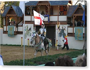 Performers Canvas Print - Maryland Renaissance Festival - Jousting And Sword Fighting - 121212 by DC Photographer