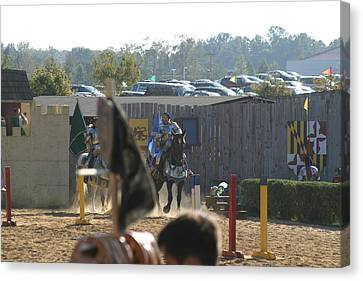 Maryland Renaissance Festival - Jousting And Sword Fighting - 1212124 Canvas Print by DC Photographer