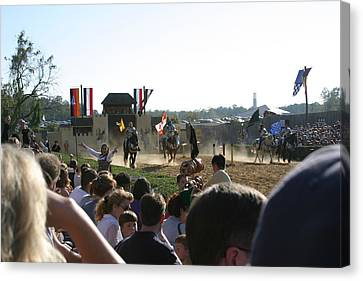 Maryland Renaissance Festival - Jousting And Sword Fighting - 1212126 Canvas Print by DC Photographer