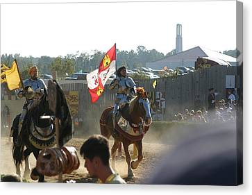 Maryland Renaissance Festival - Jousting And Sword Fighting - 1212127 Canvas Print by DC Photographer