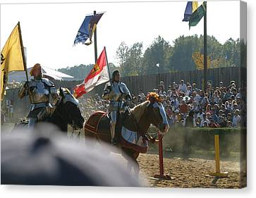 Maryland Renaissance Festival - Jousting And Sword Fighting - 1212129 Canvas Print by DC Photographer