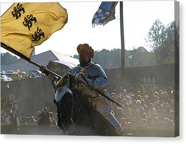 Maryland Renaissance Festival - Jousting And Sword Fighting - 1212130 Canvas Print by DC Photographer