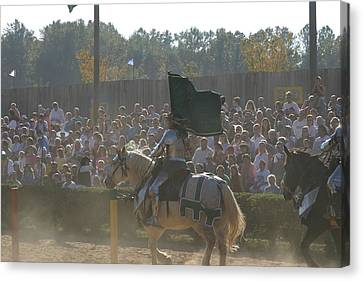 Maryland Renaissance Festival - Jousting And Sword Fighting - 1212132 Canvas Print by DC Photographer