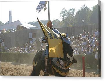 Maryland Renaissance Festival - Jousting And Sword Fighting - 1212134 Canvas Print by DC Photographer