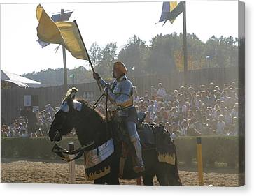 Maryland Renaissance Festival - Jousting And Sword Fighting - 1212137 Canvas Print by DC Photographer
