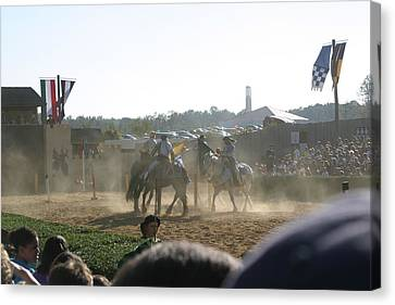 Maryland Renaissance Festival - Jousting And Sword Fighting - 1212139 Canvas Print by DC Photographer