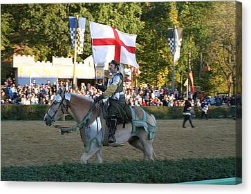 Maryland Renaissance Festival - Jousting And Sword Fighting - 121214 Canvas Print by DC Photographer