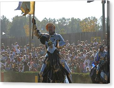 Maryland Renaissance Festival - Jousting And Sword Fighting - 1212143 Canvas Print by DC Photographer