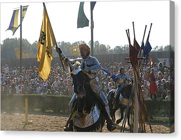 Maryland Renaissance Festival - Jousting And Sword Fighting - 1212144 Canvas Print by DC Photographer