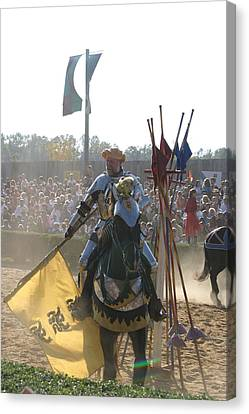 Maryland Renaissance Festival - Jousting And Sword Fighting - 1212145 Canvas Print by DC Photographer