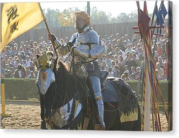 Maryland Renaissance Festival - Jousting And Sword Fighting - 1212148 Canvas Print by DC Photographer