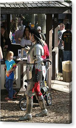 Maryland Renaissance Festival - Jousting And Sword Fighting - 1212149 Canvas Print by DC Photographer