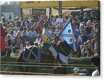 Maryland Renaissance Festival - Jousting And Sword Fighting - 1212152 Canvas Print by DC Photographer