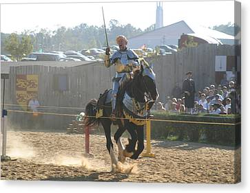 Maryland Renaissance Festival - Jousting And Sword Fighting - 1212154 Canvas Print by DC Photographer