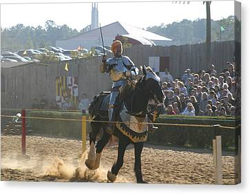 Maryland Renaissance Festival - Jousting And Sword Fighting - 1212155 Canvas Print by DC Photographer