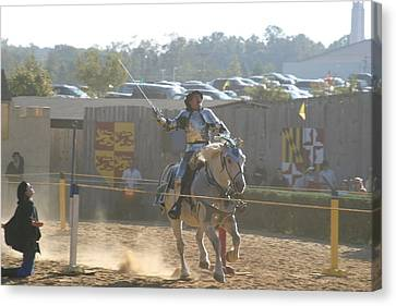 Maryland Renaissance Festival - Jousting And Sword Fighting - 1212157 Canvas Print by DC Photographer