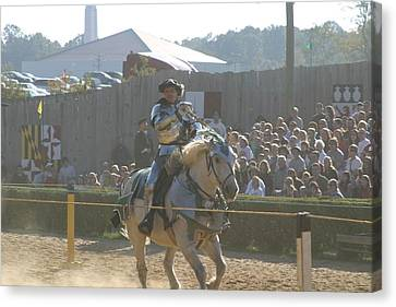 Maryland Renaissance Festival - Jousting And Sword Fighting - 1212158 Canvas Print by DC Photographer