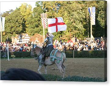 Maryland Renaissance Festival - Jousting And Sword Fighting - 121216 Canvas Print by DC Photographer