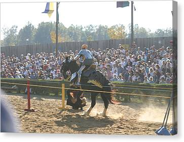 Maryland Renaissance Festival - Jousting And Sword Fighting - 1212161 Canvas Print by DC Photographer