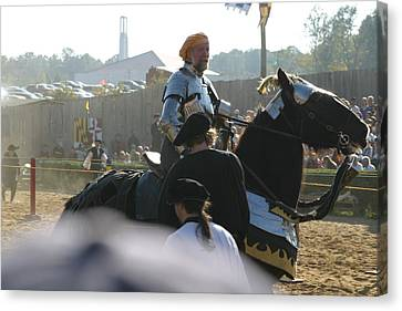 Maryland Renaissance Festival - Jousting And Sword Fighting - 1212164 Canvas Print by DC Photographer