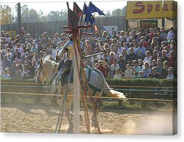 Maryland Renaissance Festival - Jousting And Sword Fighting - 1212166 Canvas Print by DC Photographer