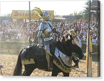 Maryland Renaissance Festival - Jousting And Sword Fighting - 1212173 Canvas Print by DC Photographer