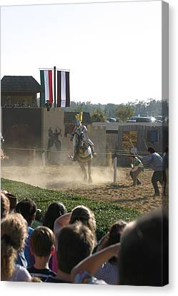 Maryland Renaissance Festival - Jousting And Sword Fighting - 1212174 Canvas Print by DC Photographer